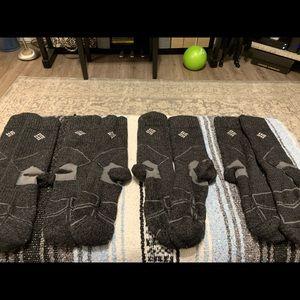 4 pairs of Women's Grey Columbia Cabin Socks